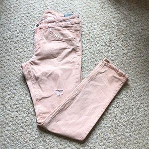 H&M Super Skinny Pink Ankle Jeans